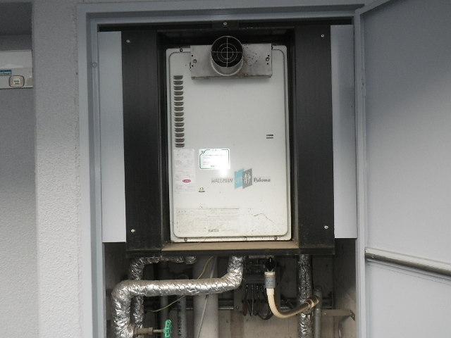宝塚市平井 マンション ノーリツ16号ガス給湯器 取替交換工事施工 PH-16CW3 から GQ-1637WS-T