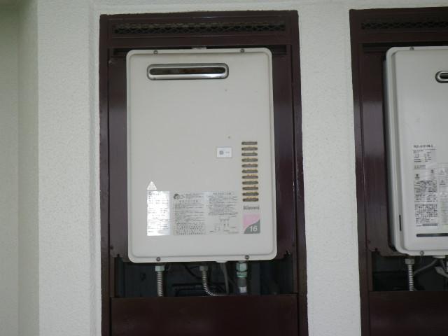 大阪市淀川区塚本 マンション リンナイ16号ガス給湯器 取替交換工事施工 RUX-1610DW-E から RUX-A1616W-E