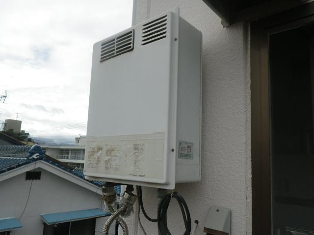 伊丹市昆陽南マンション ノーリツ16号ガス給湯器 取替交換工事施工 TP-PS165C から GQ-1639WS