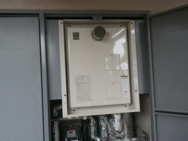 神戸市垂水区名谷町マンション ノーリツ16号 ガス温水暖房付給湯器 クイックオート 取替交換工事施工 44-481 から GQH-1643AWXD-T-DX BL