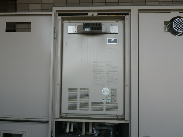 大阪府此花区伝法 マンション ノーリツ ガスふろ給湯器 取替交換工事施工 44-876A から GT-2460AWX