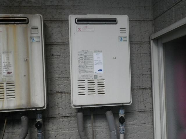 神戸市東灘区住吉南町マンション ノーリツ16号ガス給湯器 取替交換工事施工 OUR-1600EE から GQ-1639WS-1