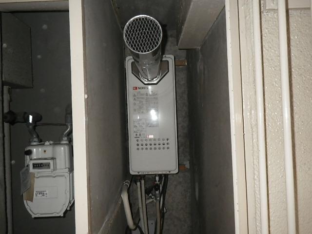 尼崎市三反田町マンション ノーリツ16号ガスふろ給湯器 取替交換工事施工 GT-1623SAW-T から GT-1653SAWX-T-2