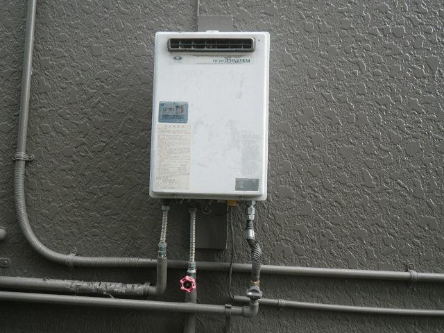 尼崎市上之島ハイツ ノーリツ16号ガス給湯器 取替交換工事施工 33-580 から GQ-1639WS-1