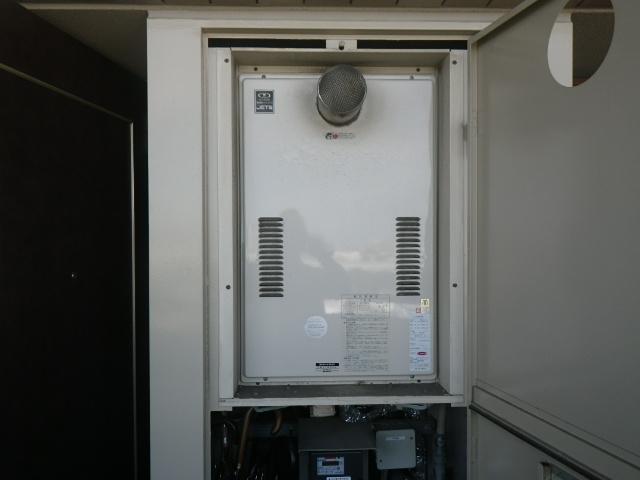 大阪市西淀川区 マンション ノーリツ24号 ガス温水暖房付給湯器 取替交換工事施工 44-626 から GQH-2443AWXD-T-DX BL