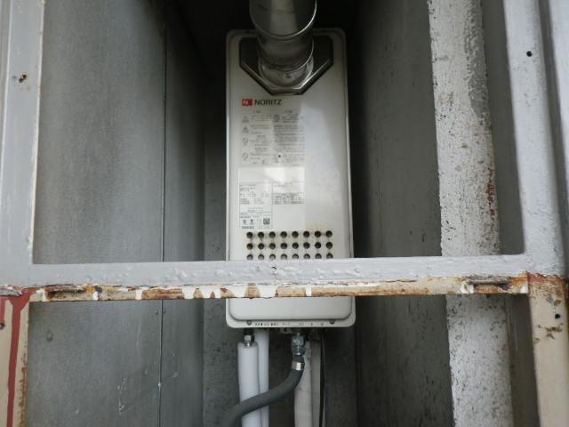 尼崎市武庫豊町マンション ノーリツ16号ガス風呂給湯器 取替交換工事施工 GT-1623SAW-T から GT-1653SAWX-T-2