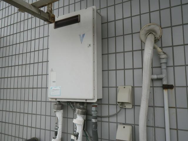 神戸市垂水区千鳥が丘マンション ノーリツ16号ガス給湯器 取替交換工事施工 ナショナル GW-16? から GQ-1639WS-1