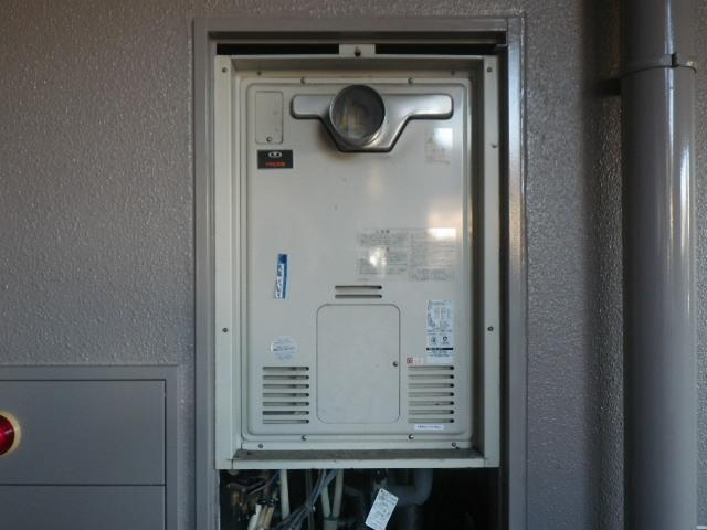 神戸市東灘区森南町マンション リンナイ24号ガス温水暖房付ふろ給湯器 取替交換工事施工 44-271 RUFH-2405AT2-1 から
