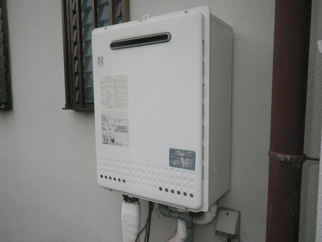 宝塚市売布 戸建住宅 ノーリツ24号ガス風呂給湯器 取替交換工事施工 YM2456RSA から GT-2460SAWX-1