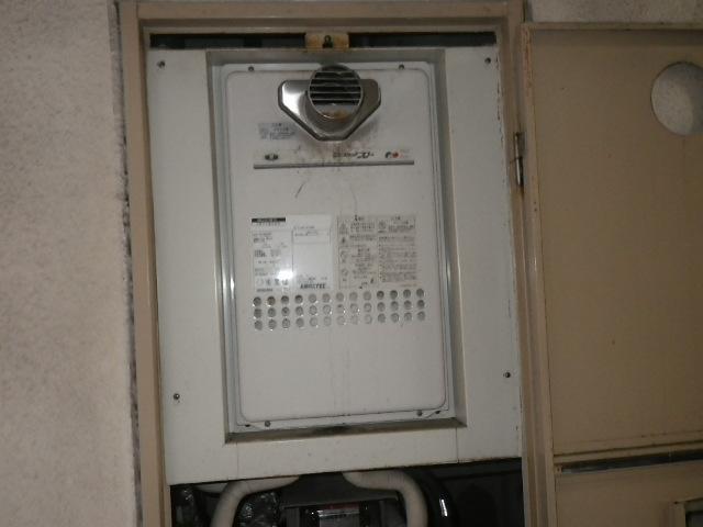 尼崎市立花町マンション ノーリツ16号ガス給湯器 高温水供給式 取替交換工事施工 131-H812 YV1660RT から GQ-1627AWX-T-DX BL