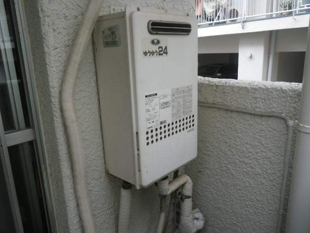 西宮市甲東園マンション ノーリツ24号ガス給湯器 取替交換工事施工 133-H812 GQ2416WXA から GQ-2439WS-1