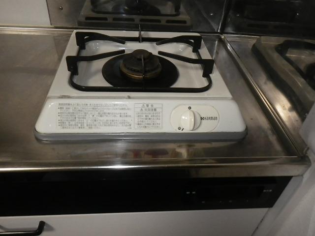 大阪市阿倍野区文の里マンション ノーリツ 1口 ガスビルトインコンロ 取替交換工事施工 DC1001 から N1C04KSA