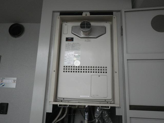 西宮市東鳴尾町マンション ジークレフ ノーリツ24号ガス温水暖房付ふろ給湯器 取替交換工事施工 44-211 GTH-2411AWXD-T から GTH-2444AWX-T-1