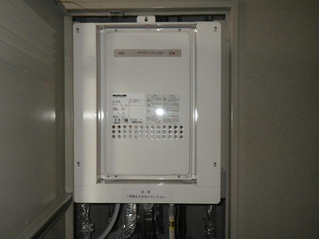 西宮市上甲子園マンション ノーリツ24号ガス給湯器 高温水供給式 ジェットフロー 取替交換工事施工 131-H805 YV2406RM から GQ-2427AWX-TB-DX BL
