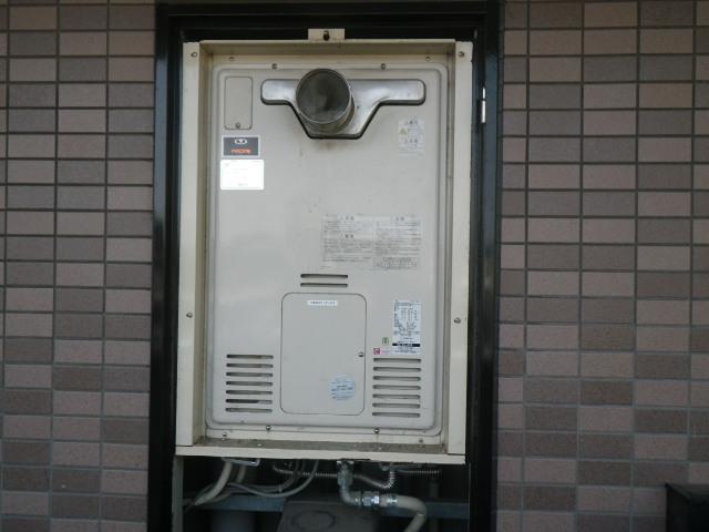 尼崎市尾浜町マンション リンナイ24号ガス風呂給湯器 取替交換工事施工 44-606 RUFH-2405SAT2-3 から RUF-A2405SAT-L(B)