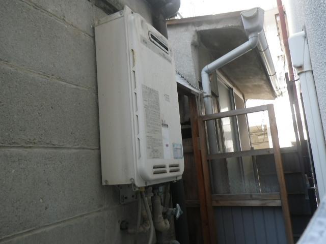 尼崎市竹谷町 戸建住宅 ノーリツ16号ガス給湯器 取替交換工事施工 大阪ガス 33-740 から GQ-1639WS-1