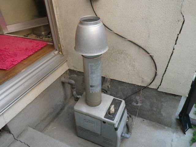 尼崎市武庫之荘 住宅 ノーリツ ガス風呂釜 電池点火式 取替交換工事施工 GSY-132D