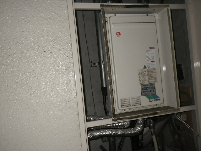 兵庫県芦屋市大東町マンション リンナイ16号ガス給湯器 高温水供給式 取替交換工事施工 GQ-162AW-TB から RUJ-A1610B