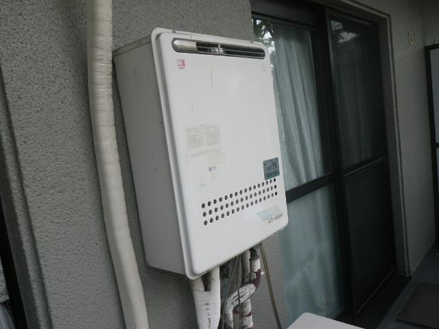 尼崎市南武庫之荘 マンション ノーリツ16号ガス給湯器 取替交換工事施工 GT-165W から GT-1660SAWX-1