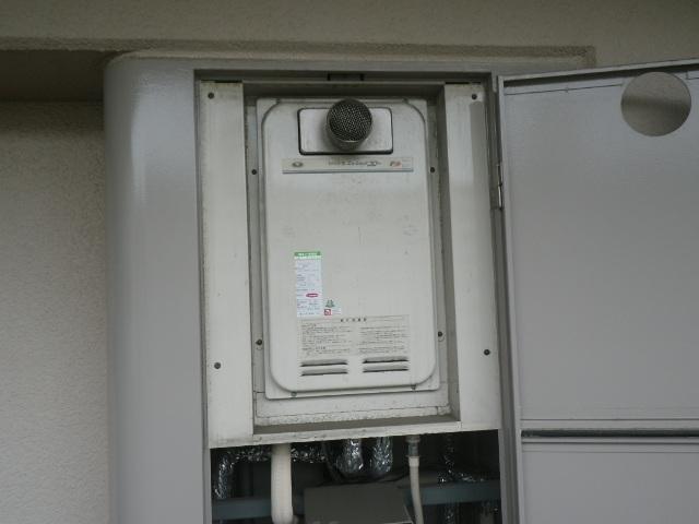 西宮市北昭和町マンション ノーリツ16号ガス給湯器 高温水供給式 取替交換工事施工 大阪ガス31-763 YV1622RG から GQ-1627AWX-T-DX BL