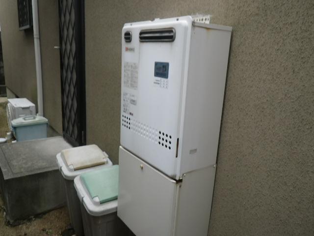 芦屋市岩園町 戸建住宅 ノーリツ24号ガス風呂給湯器 取替交換工事施工 GT-2422SAWX から GT-2460SAWX-1
