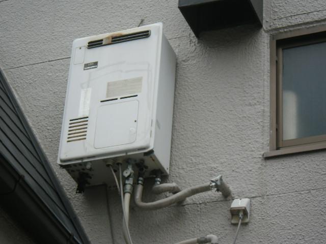 尼崎市立花町 戸建住宅 ノーリツ24号ガス給湯器 取替交換工事施工 大阪ガス エックスマークⅡ から GQ-2439WS-1