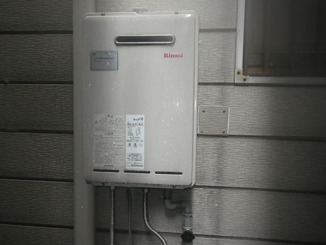 大阪市城東区関目 戸建住宅 リンナイ 16号 ガス給湯器 取替交換工事施工 RUX-A1611W-E から RUX-A1615W-E