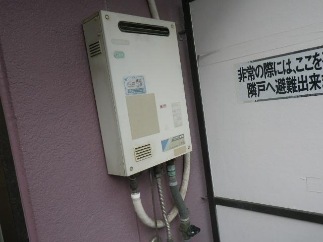 尼崎市立花町 マンション ノーリツ16号ガス給湯器 取替交換工事施工 TOTO CUSTOM U16 から GQ-16939WS-1