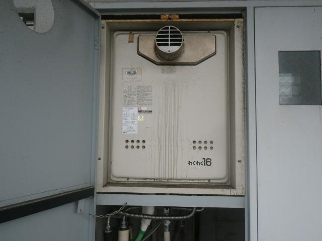西宮市江上町マンション リンナイ16号 ガスふろ給湯器 取替交換工事施工 大阪ガス 31-597 GT-1601SAWX-T から リンナイ RUF-A1615SAT(B)
