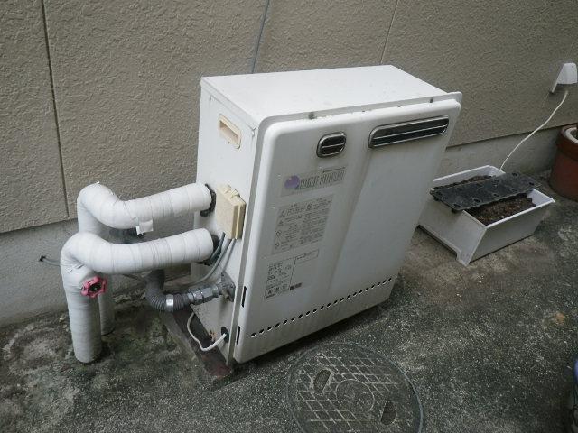 明石市太寺天王町 戸建住宅 ノーリツ 20号 エコジョーズ ガスふろ給湯器 取替交換工事施工 日立ハウステック KZ-205SA から GT-C2062SAX BL