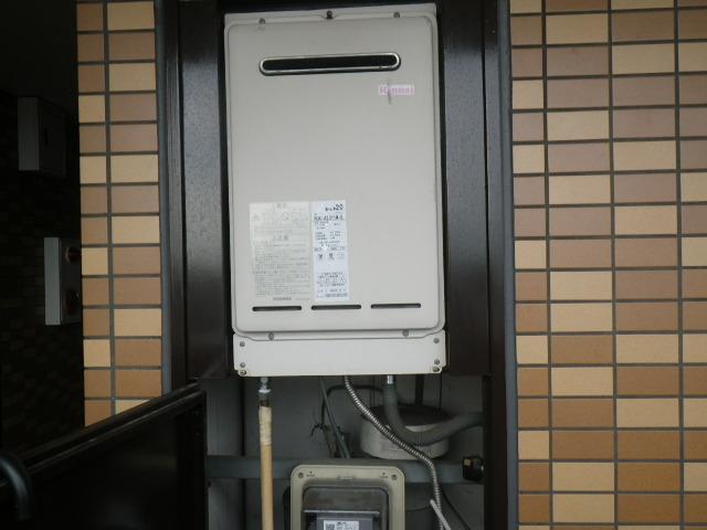 尼崎市高田町マンション リンナイ ガス給湯器20号 取替交換工事施工 RUX-A2011W-E から RUX-A2015W-E
