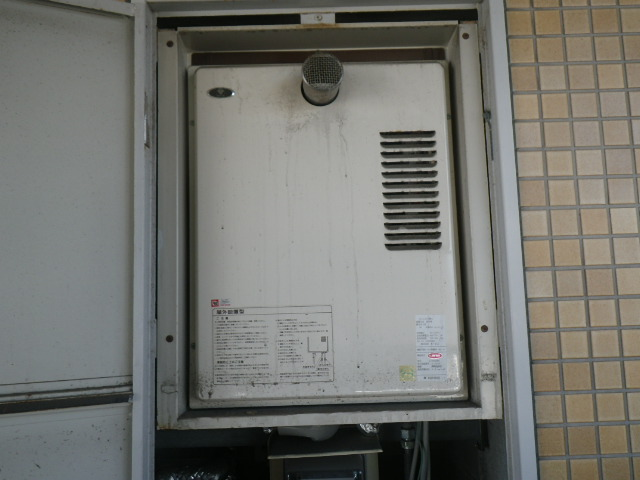 尼崎市立花町 マンション ノーリツ16号ガス給湯器 取替交換工事施工 大阪ガス S16R8型 から GQ-1639WS-T-1