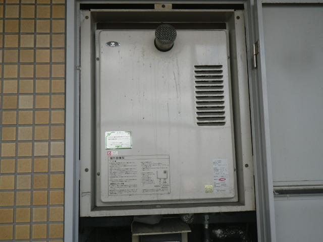 尼崎市立花町マンション ノーリツ16号ガス給湯器 PS扉内設置 取替交換工事施工 大阪ガス S16R8型 から GQ-1639WS-1