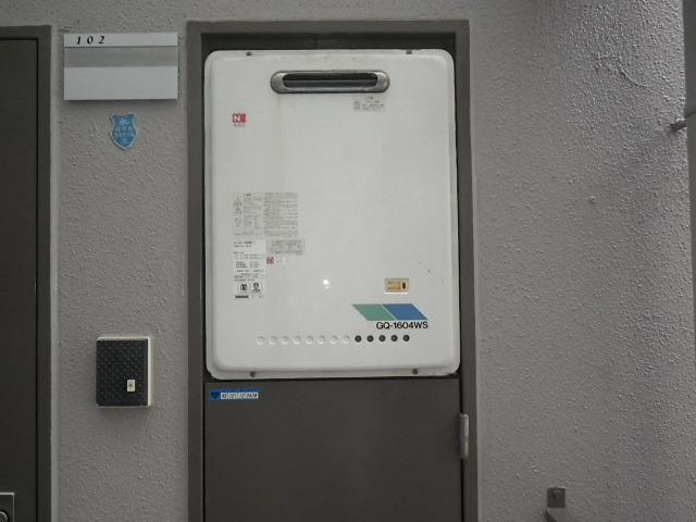 神戸市北区鈴蘭台マンション ノーリツ16号ガス給湯器 取替交換工事施工 GQ-1604WS から GQ-1639WS-1