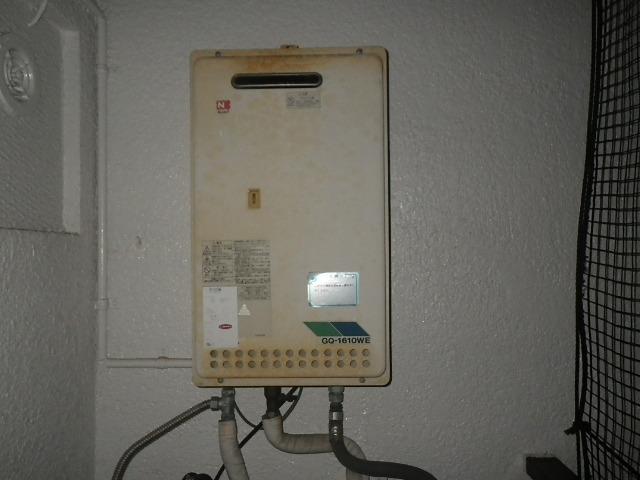 神戸市東灘区甲南町マンション ノーリツ16号ガス給湯器 取替交換工事施工 GQ-1610WE から GQ-1639WS-1