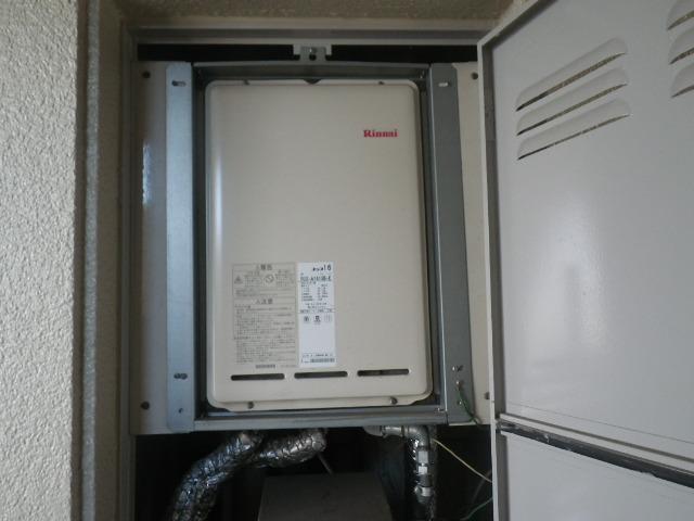 尼崎市口田中マンション リンナイ 16号ガス給湯器 取替交換工事施工 RUX-A1610B-E から RUX-A1616B-E