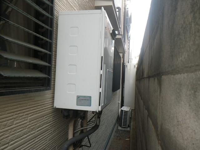 尼崎市椎堂 戸建住宅 ノーリツ24号ガスふろ給湯器 取替交換工事施工 大阪ガス 135-T500A GH-SK2401AW から GT-2460SAWX-1