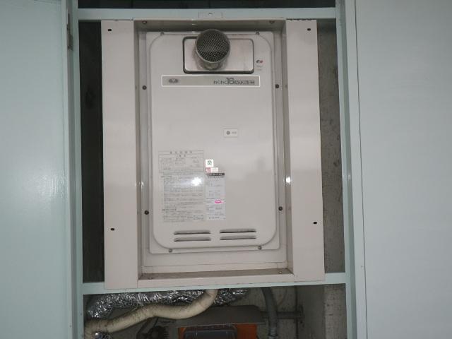 尼崎市杭瀬南新町マンション ノーリツ16号ガス給湯器 取替交換工事施工 大阪ガス33-742 YS1631RGR から GQ-1639WS-T-1