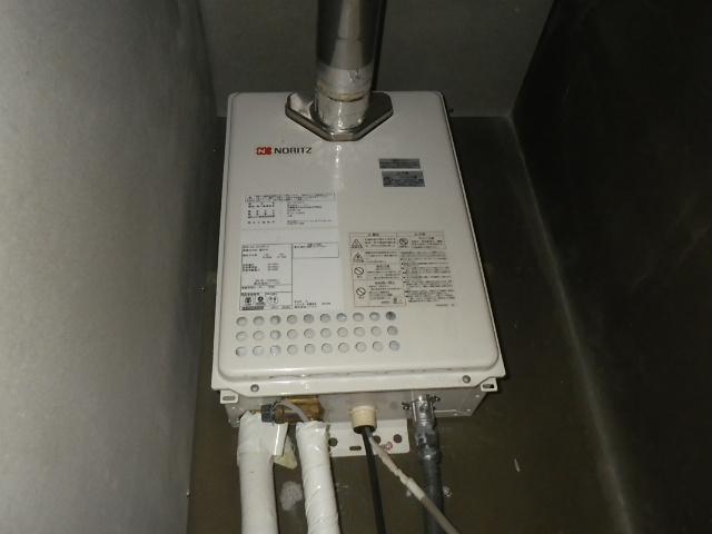 大阪市西淀川区佃マンション リンナイ16号ガス給湯器 排気延長型 取替交換工事施工 ノーリツ GQ-1623WE-C から RUX-A1616T-L-E