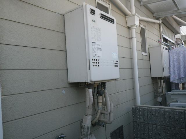 尼崎市富松町ハイツ ノーリツ20号ガスふろ給湯器 取替交換工事施工 大阪ガス131-8110 GT-2022SAWX から GT-2060SAWX-1 BL