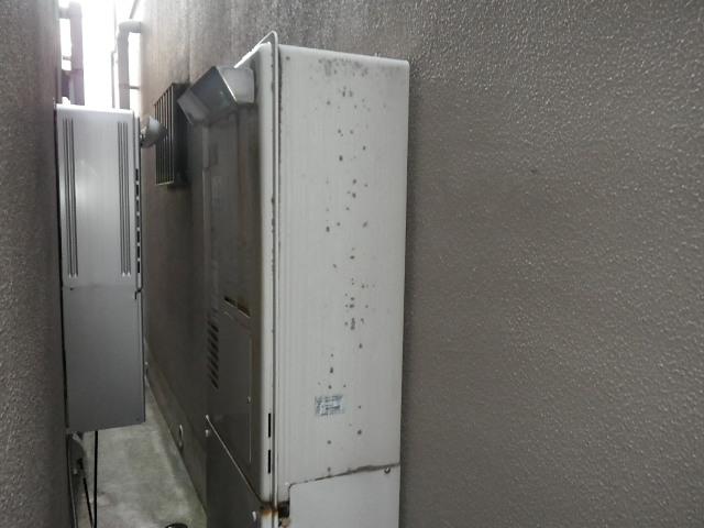 尼崎市立花町 戸建住宅 リンナイ24号エコジョーズ ガス温水暖房付給湯器 取替交換工事施工 大阪ガス 135-1300 RUFH-V2400AW2-6 から RUFH-E2405AW2-3(A)