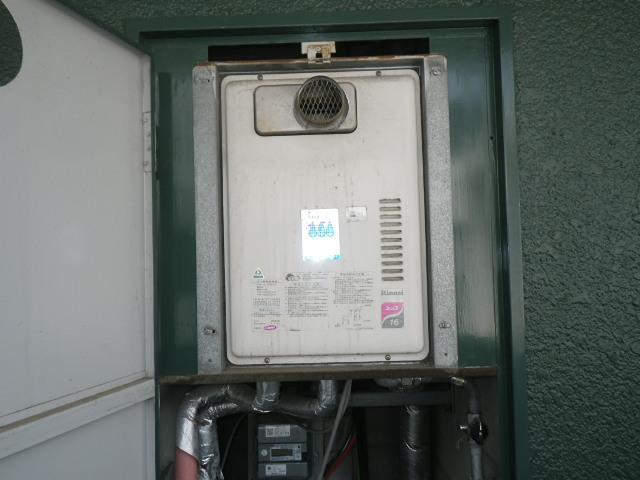 神戸市兵庫区塚本通マンション ノーリツ16号ガス給湯器 取替交換工事施工 リンナイ RUX-1611PSOT-E から GQ-1639WS-T-1