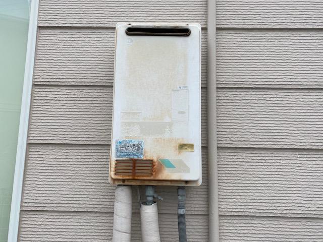 神戸市垂水区つつじが丘 戸建住宅 ノーリツ 16号 ガス給湯器 取替交換工事施工 GQ-162WS から GQ-1639WS-1