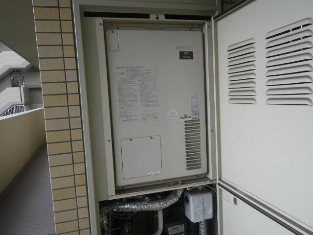 尼崎市東塚口町マンション ノーリツ24号ガス温水暖房付ふろ給湯器 取替交換工事施工 大阪ガス 135-1046 AT-4200ARSSWQ-H から GTH-2444SAWX-H-1 BL
