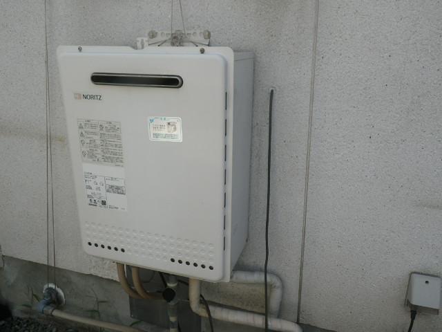 尼崎市大庄西町戸建住宅 ノーリツ16号ガスふろ給湯器 取替交換工事施工 GT-1628SAWX から GT-1660SAWX-1 BL