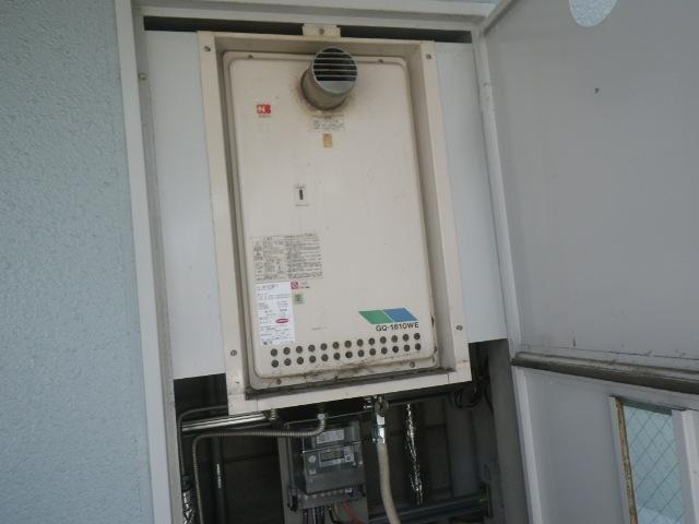 西宮市川添町 マンション ノーリツ16号ガス給湯器 取替交換工事施工 GQ-1610WE-T から GQ-1639WS-T-1