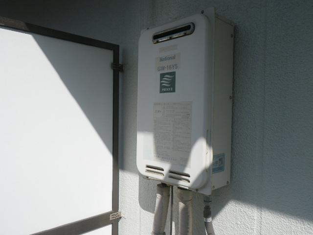 神戸市東灘区森南町マンション リンナイ16号ガス給湯器 コードレスリモコン 取付工事 ナショナルGW-16Y5 から RUX-A1616W-E