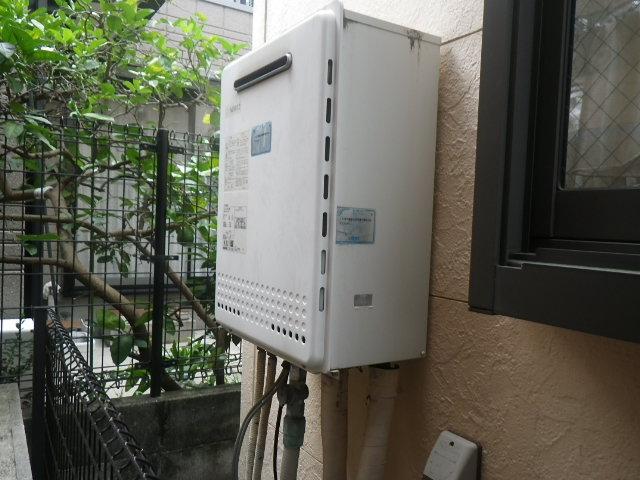 尼崎市立花町 戸建住宅 ノーリツ24号ガス追炊き付給湯器 取替交換工事施工 GT-2428SAWX から GT-2460SAWX-1 BL