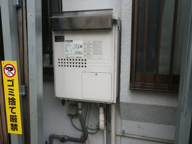 大阪市大正区 戸建住宅 ノーリツ16号ガスふろ給湯器 取替交換工事施工 大阪ガス 135-N740 GTH-1635SAWXD から GT-1660SAWX-1 BL