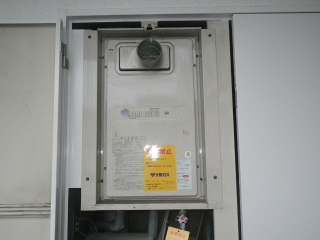 神戸市兵庫区中道通マンション ノーリツ16号ガス給湯器 取替交換工事施工 日立ハウステック KS-163LGH から GQ-1639WS-T-1